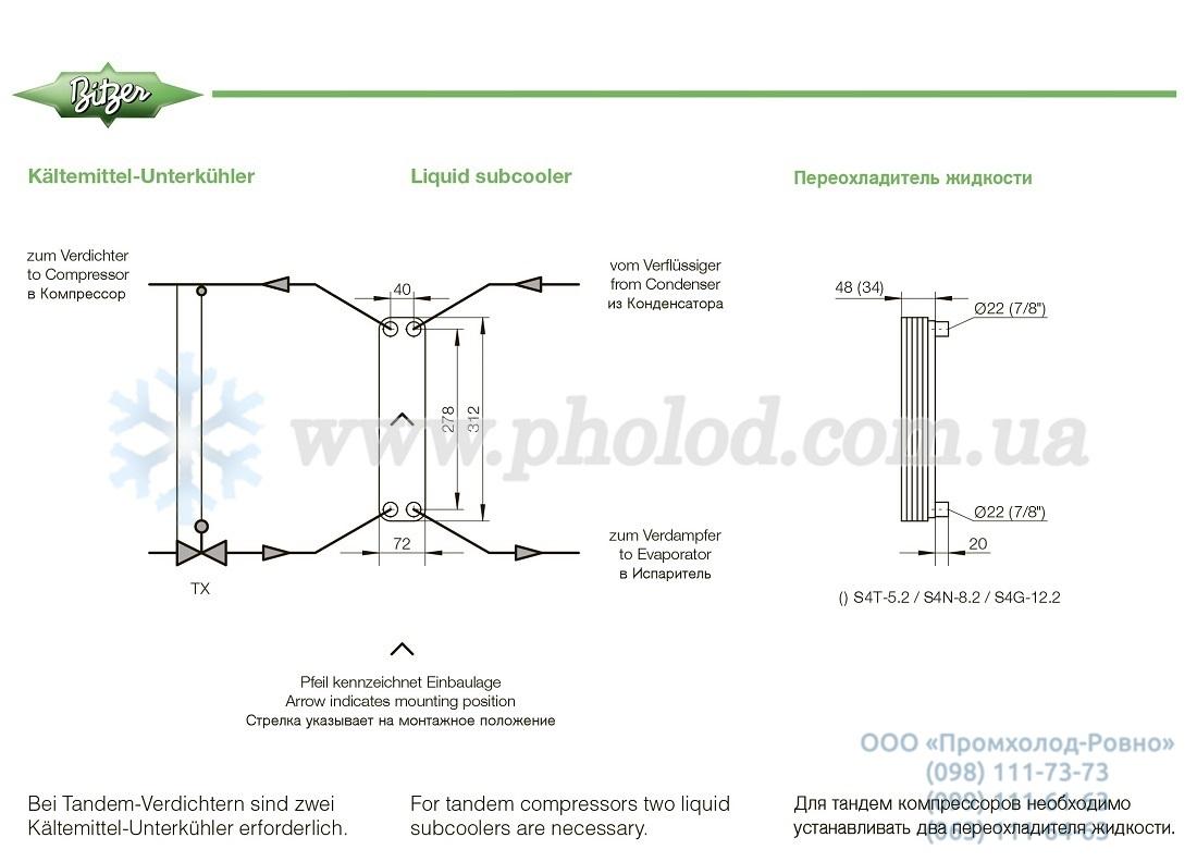 Bitzer Two Stage Compressor Dimensions