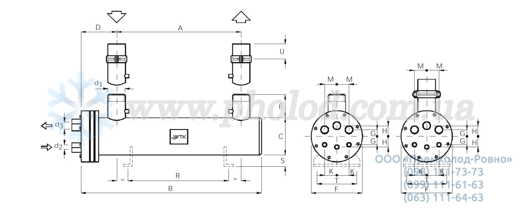 Кожухотрубный испаритель WTK TFE 865 Артём Пластины теплообменника Alfa Laval TS20-MFS Набережные Челны