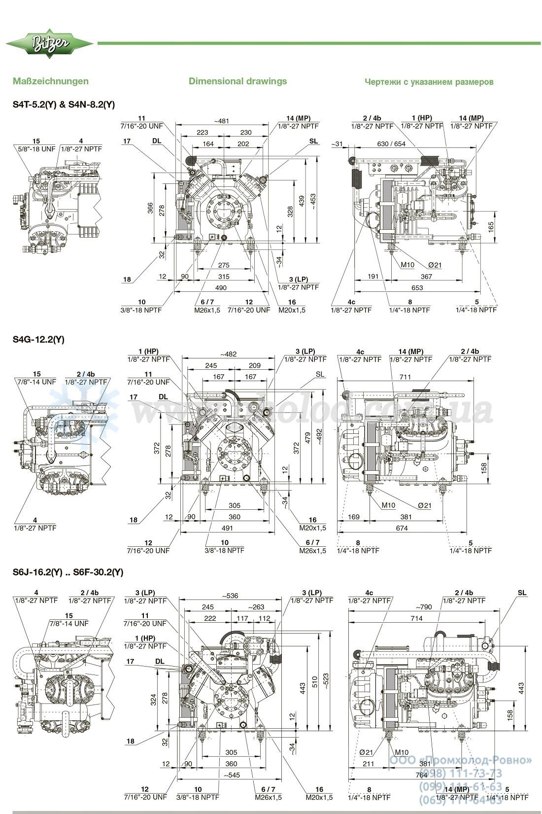 Dimensions Bitzer Two Stage Compressor