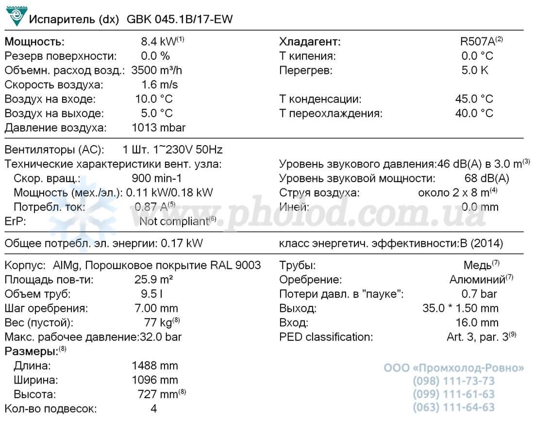 Guntner GBK 045.1B 17 1