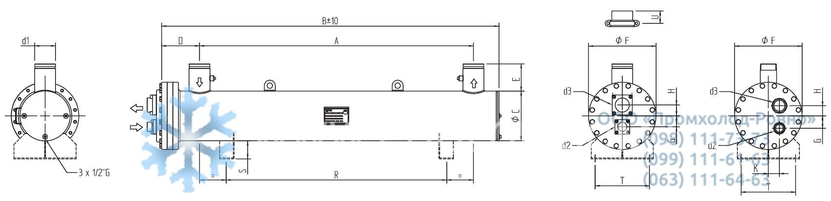 Кожухотрубный конденсатор WTK CF 120 Артём Кожухотрубный маслоохладитель ONDA Oil 220 Пушкино
