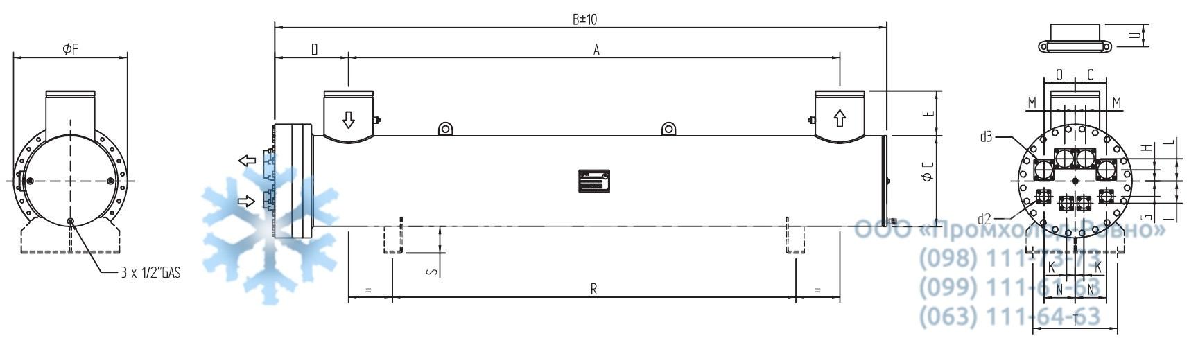 Кожухотрубный испаритель Alfa Laval DH2-403 Королёв